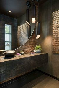 Wooden counter for washbasin
