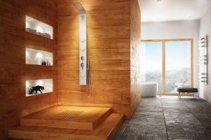 Natural Wood Bathroom