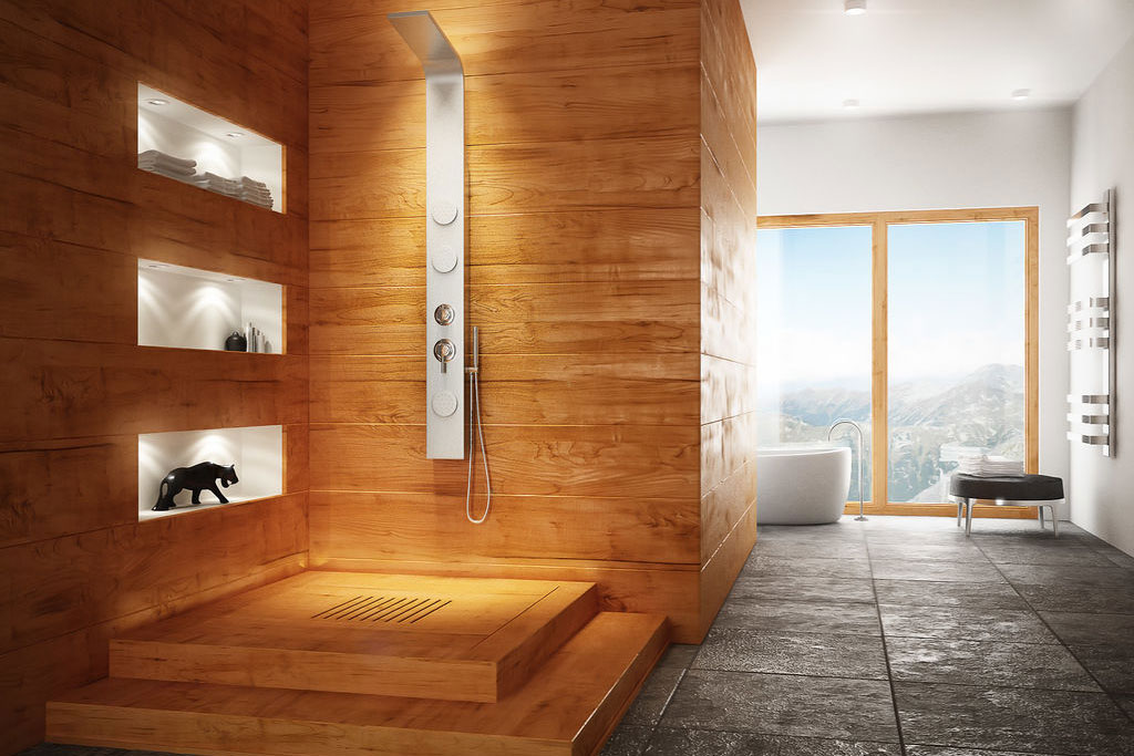 Natural Wood Bathroom